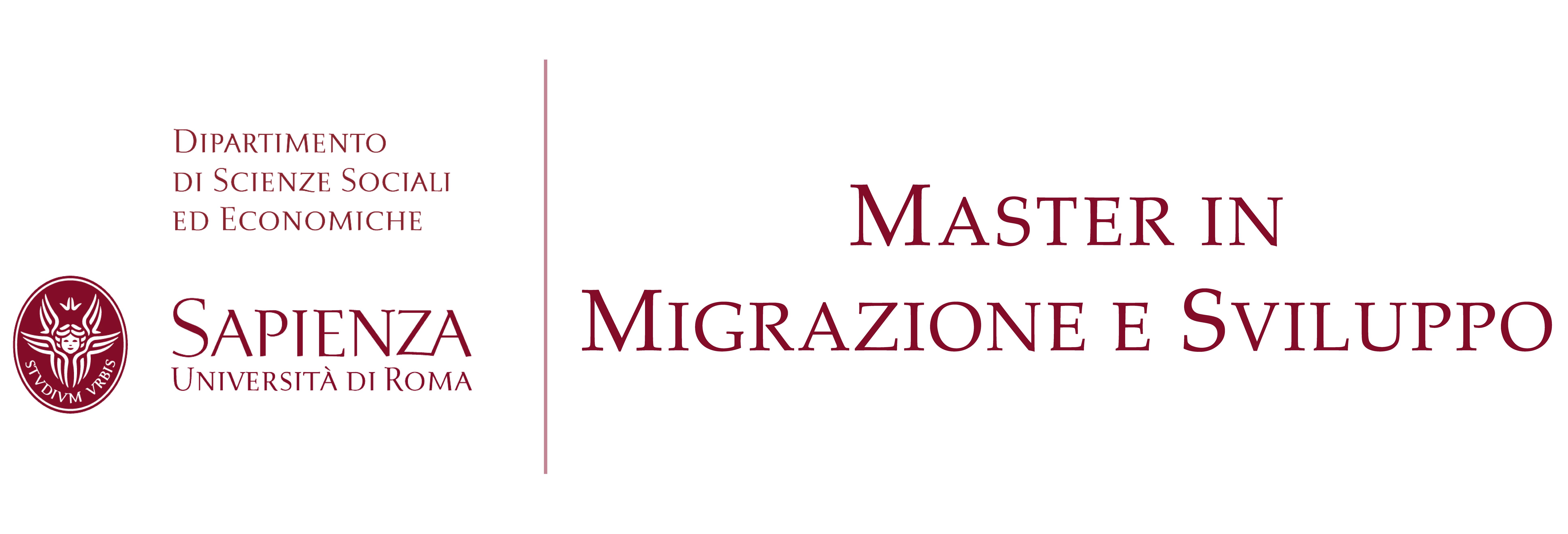 Master Migrazione e Sviluppo Sapienza